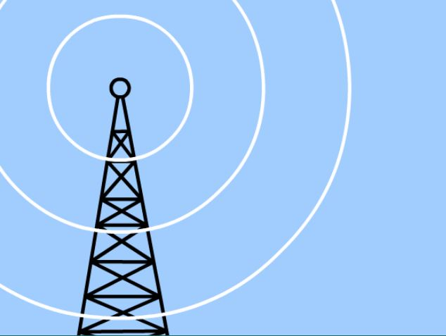 Image of cell tower and EMF