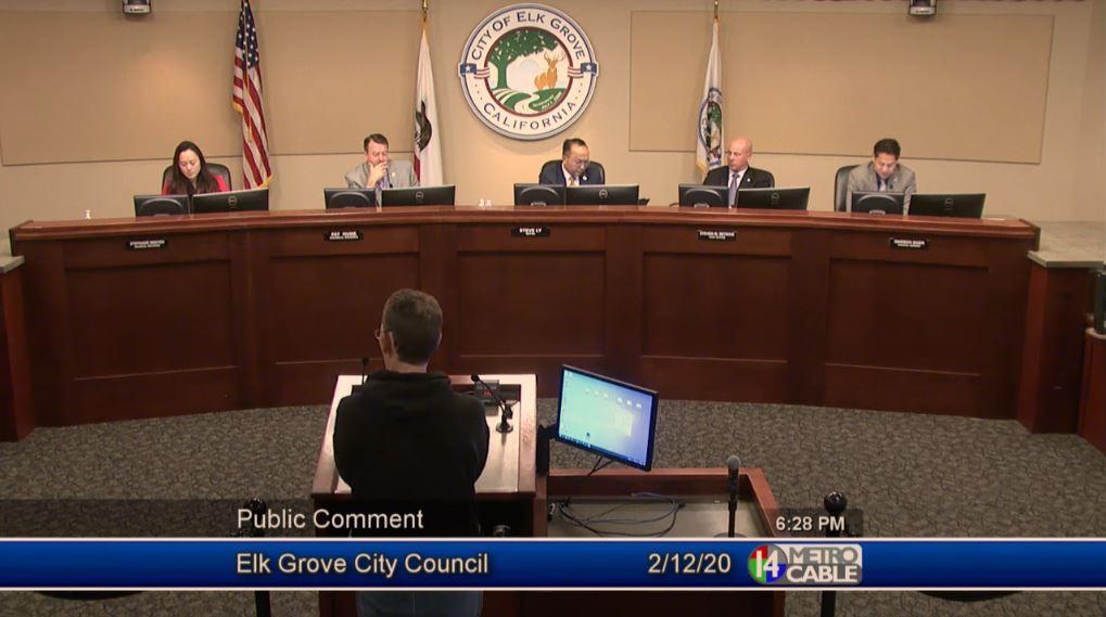 Image of MG at City Council